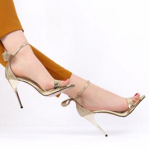 Sandale pentru dame cod 10G972 Gold