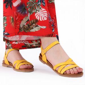 Sandale pentru dame cod BX09 Yellow