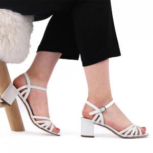 Sandale pentru dame cod F16 White
