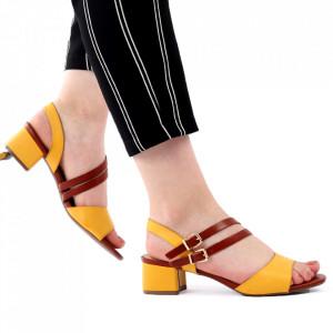 Sandale pentru dame cod J52 Yellow