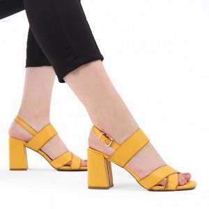 Sandale pentru dame cod J55 Yellow
