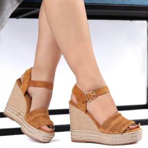 Sandale pentru dame cod JM221J Camel