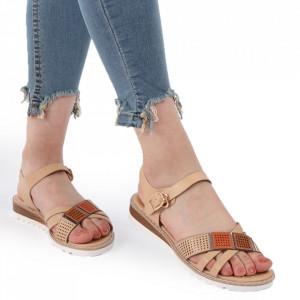 Sandale pentru dame cod L03 Beige
