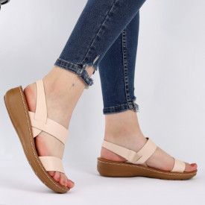 Sandale pentru dame cod TH0004 Beige
