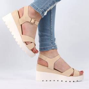 Sandale pentru dame cod YH-15 Apricot