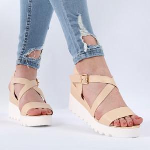Sandale pentru dame cod YH-16 Apricot