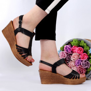 Sandale pentru dame din piele naturală cod 164816 Black