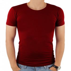 Tricou pentru bărbați cod 4101 Vișne