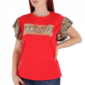 Tricou pentru dame cod F202 Red