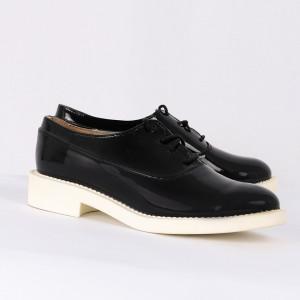 Pantofi din piele ecologică cod ZA-1 Negri