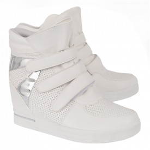 Pantofi sport tip sneakers damă cod 2099-7 White