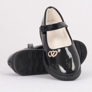 Pantofi pentru fete cod CP66 Negri