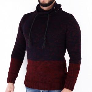 Bluză Alberto Red - Bluza groasă perfectă pentru sezonul rece, o piesă cu reputaţie a stilului casual având compoziţia 70% material acrilic şi 30% lână - Deppo.ro