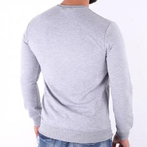 Bluză Jaden Grey - Bluza simplă este cel mai versatil articol vestimentar din sezonul rece, o piesă cu reputaţie a stilului casual având compoziţia 95% bumbac şi 5% lycra - Deppo.ro