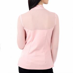 Bluză Josephine Pink - Bluză  Elegantă, cu panză în partea de sus și fundiță la guler! Potrivită pentru dame! Compozitie 60% poliestere,35% viscosa, 5% elastan - Deppo.ro