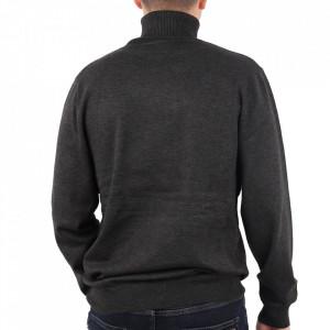 Bluză M-001 Gri - Bluza simplă este cel mai versatil articol vestimentar din sezonul rece, o piesă cu reputaţie a stilului casual având compoziţia 50% Viscoză 28% PPTşi 22% Elastan - Deppo.ro