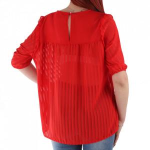 Bluză pentru dame cod 92454 Red - Bluză pentru dame Conferă o ținută lejeră de vară - Deppo.ro