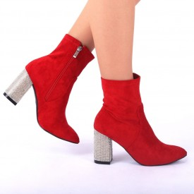 Botine cod BL00013 Red