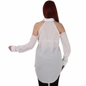 Cămașă tip iie tradițională Loreta - Cămașă tip ie cu motive florale și umeri goi, un design tradițional care poate fii purtată atât cu o pereche de pantaloni lungi cât și la o fustiță - Deppo.ro