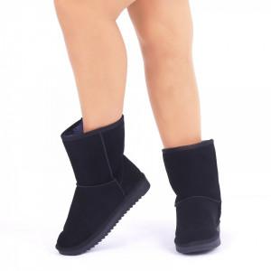 Cizme din piele naturală Trimis Albastru - Cizme tip UG din piele ecologică întoarsă îmblănite ideale pentru sezonul rece - Deppo.ro