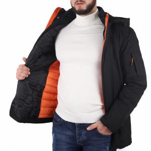 Geacă Caleb Neagră - În partea din faţă jacheta este prevăzută cu un fermoar lung din plastic rezistent şi capse Creată special pentru iubitorii sporturilor de iarnă. - Deppo.ro