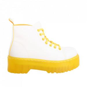 Ghete pentru dame cod BS-006 White/Yellow