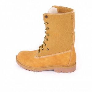 Ghete pentru dame cod YG8 Camel - Ghete din piele ecologică, foarte confortabil cu un calapod comod și interior îmblănit - Deppo.ro