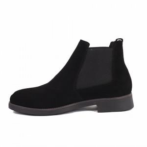 Ghete pentru din piele naturală pentru bărbați cod 41873 Negre - Produs din piele naturală, foarte confortabili cu un calapod comod - Deppo.ro