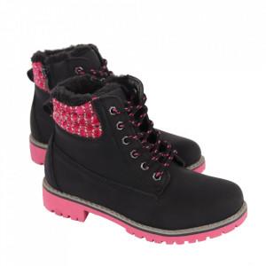 Ghete pentru fete cod HD160 Black - Ghete din piele ecologică de înaltă calitate cu înterior îmblănit, foarte confortabil cu un calapod comod - Deppo.ro