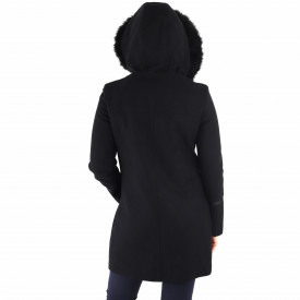 Palton Samanta Negru - Palton elegant cu închidere cu capse şi fermoar, căptușit pe interior. Îmbracă-l la rochii sau ținute office și asortează-l cu o pereche de mănuși din piele pentru un plus de eleganță. - Deppo.ro