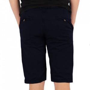 Pantaloni scurți pentru bărbați cod KS22-145 DarkBlue - Pantaloni  casual pentru bărbați din material ușor elastic, de culoare khaki - Deppo.ro