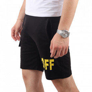 Pantaloni scurți pentru bărbați cod OFF1 Black