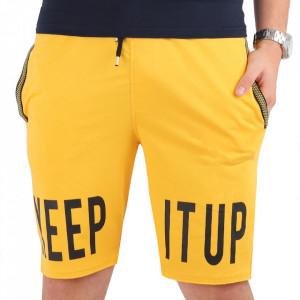 Pantaloni scurți pentru bărbați cod PP7 Yellow