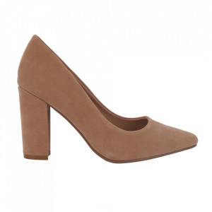 Pantofi cu toc 920-19 Beige