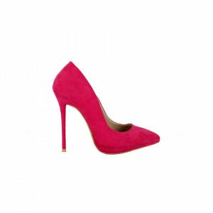 Pantofi Cu Toc Claire Fuschia - Pantofi din piele ecologică, cu vârf ascuţit şi toc subţire, foarte confortabili cu un calapod comod - Deppo.ro