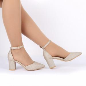 Pantofi cu toc cod 30875 Auri