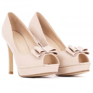 Pantofi cu toc cod BJ16601B Bej