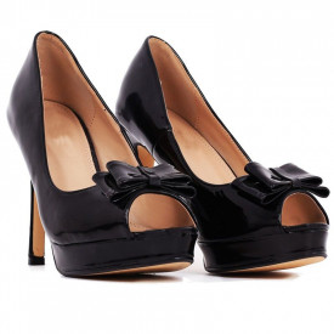 Pantofi cu toc cod BJ16601B Negri
