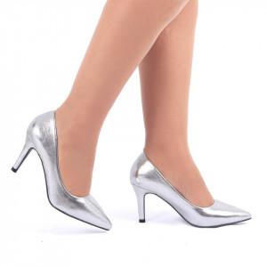 Pantofi cu toc cod C59 Arginti