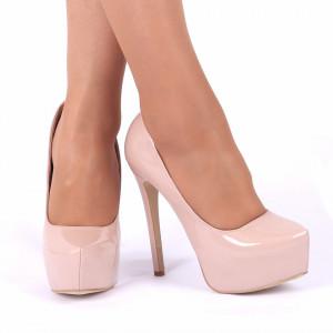 Pantofi cu toc cod EK0001 Nude - Pantofi cu toc și platformă foarte înalte pentru dame care vă pot completa o ținută fresh în acest sezon. Incalțî-te cu această pereche de pantofi la modă și asorteaz-o cu pantalonii sau fusta preferată pentru a creea o ținută deosebită. - Deppo.ro