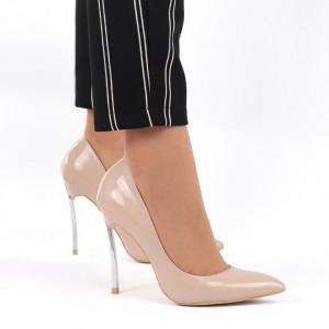 Pantofi cu toc cod HRMH2 Bej