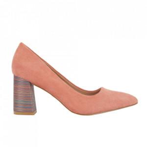 Pantofi cu toc cod OD0204 Orange