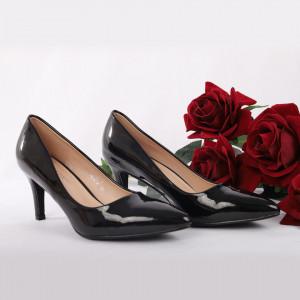 Pantofi Cu Toc Kianna Black