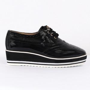 Pantofi din piele ecologică Cod 0-167 Negri