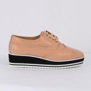 Pantofi din piele ecologică Cod 0-167 Nude Pink