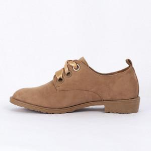 Pantofi din piele ecologică Cod 323 - Pantofii îți transformă limbajul corpului și atitudinea. Te înalță fizic și psihic!  Pantofi pentru dame din piele ecologică întoarsă - Deppo.ro