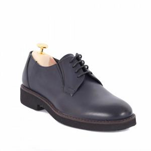 Pantofi din piele naturală Andres Albastru