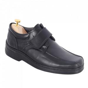 Pantofi din piele naturală cod 02S Negru