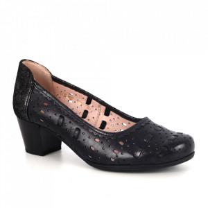 Pantofi din piele naturală cod 101-36 Black