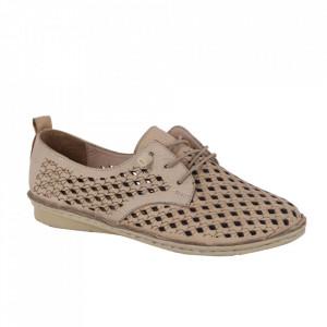 Pantofi din piele naturală cod 2023 Bej